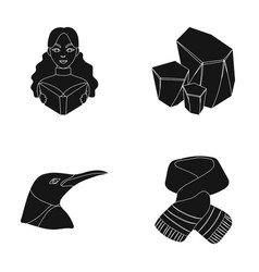 Clothing animal and or web icon in black style vector