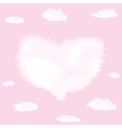 Cloud in shape of heart vector image