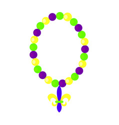 Colorful carnival necklace vector