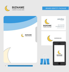 Cresent business logo file cover visiting card vector