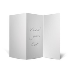 curved paper for text vector image