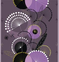 Dandelions flowers seamless pattern vector