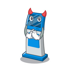Devil information digital kiosk isolated in the vector