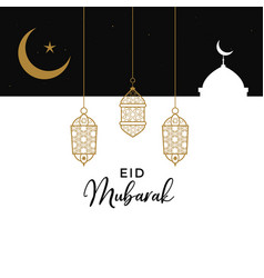 Eid mubarak creative design background vector