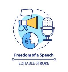 Elections concept icon propaganda freedom vector