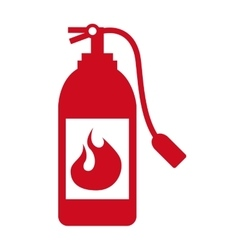 extinguisher signal silhouette icon vector image
