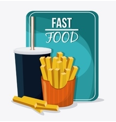 Fast food design menu icon Colorful vector image