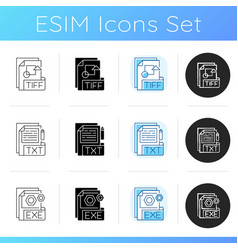 file types icons set vector image