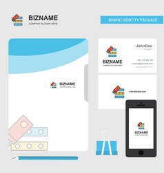 files copy business logo file cover visiting card vector image