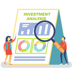 financial accounting concept investment analysis vector image