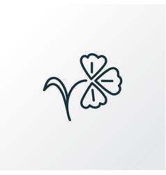 Flower icon line symbol premium quality isolated vector