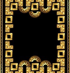 Frame in style gold incas vector