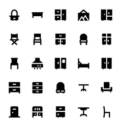 Furniture Icons 2 vector image