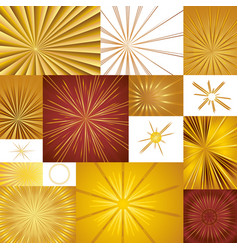 golden lightsources vector image