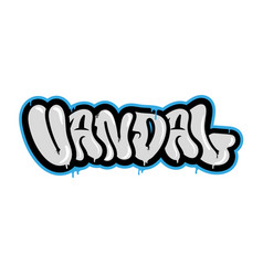 graffiti type vector image