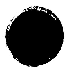 grunge circle isolated vector image