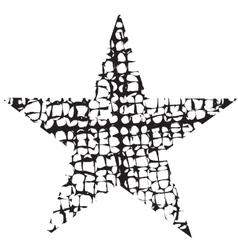 Grunge Star One vector