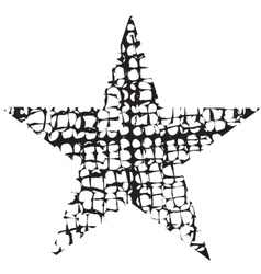 Grunge Star One vector image