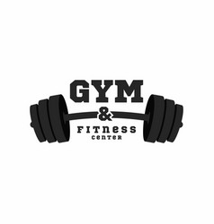 gym logo fitness center logo design template vector image