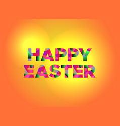 Happy easter theme word art vector