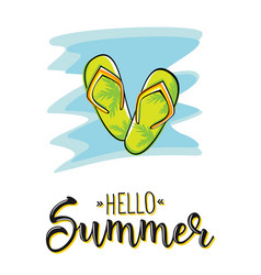 hello summer creative graphic lettering vector image