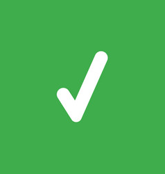 icon concept of check mark on green background vector image