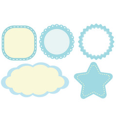 Label design with blue borders vector