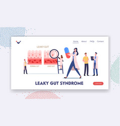 Leaky gut syndrome landing page template doctors vector
