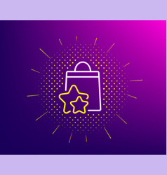 Loyalty points line icon bonus bags discount vector