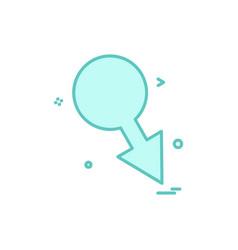 male icon design vector image