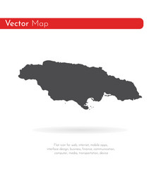 Map jamaica isolated black vector