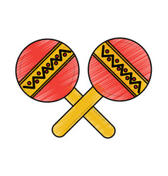 maracas musical instrument icon image vector image