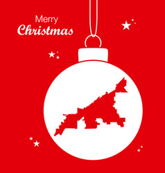 Merry christmas theme with map of cleveland ohio vector