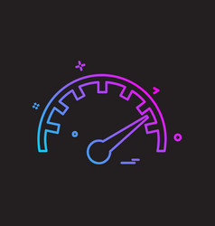 meter icon design vector image