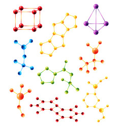 molecule structure model sign molecules vector image
