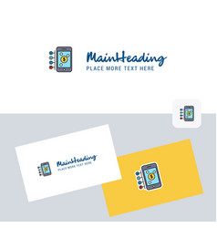 Money through smartphone logotype with business vector