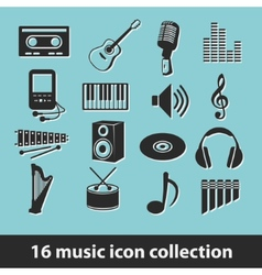 Music icon collection vector