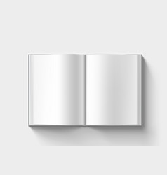Open blank clear catalogue on white back vector