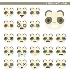 Panda emoticons vector