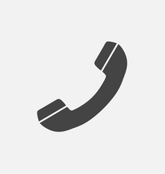 phone icon contact support service sign isolated vector image
