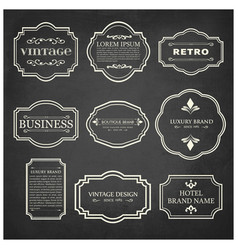 set of 9 vintage poster white sample text on vector image