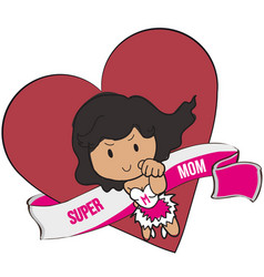 super mom vector image