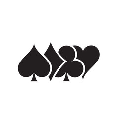 Symbol playing card game vector