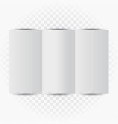 threefold letter blank empty template vector image