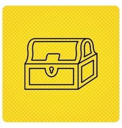 Treasure chest icon Piratic treasury sign vector