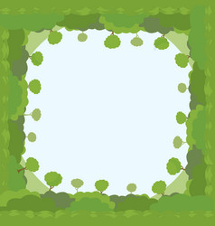 trees and bushes frame template green eco plants vector image