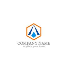 triangle shape company logo vector image