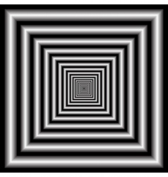 Tunnel optical illusion vector
