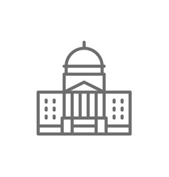 White house courthouse line icon vector