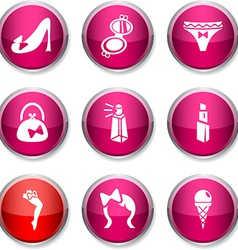 Women round icons vector